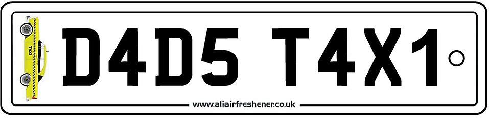 Dads Taxi Numberplate Car Air Freshener