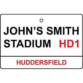 Huddersfield / John'S Smith Stadium Street Sign Car Air Freshener