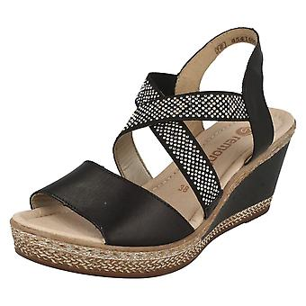 Ladies Remonte Wedge Sandals D4566