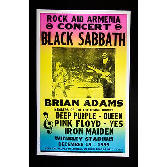Cartel del concierto retro de Black Sabbath
