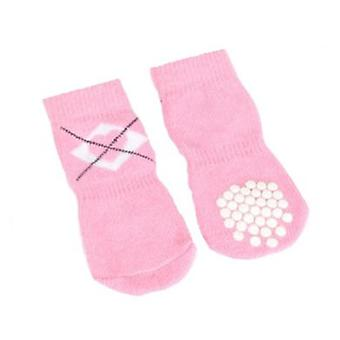 Camon Pink Socks With 3 Hearts S (Dogs , Dog Clothes , Shoes)