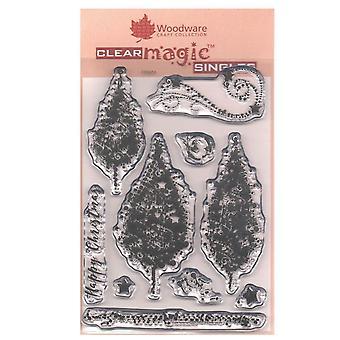 Woodware Clear frimærker Sparkly træer 10 sæt