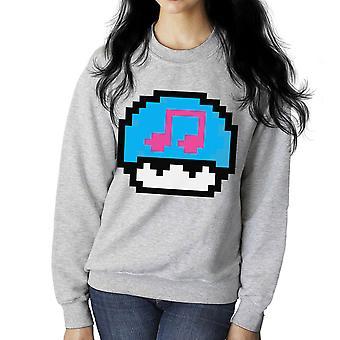 Super Mario Mushroom Musical Note Women's Sweatshirt