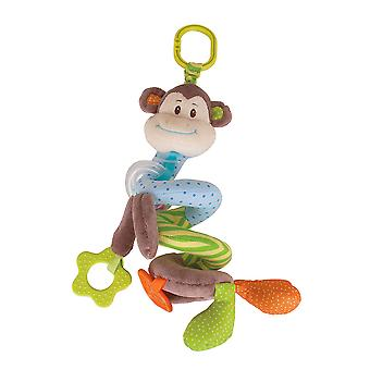 Bigjigs Toys Cheeky Monkey Spiral Cot Rattle