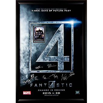 Fantastic Four underskrevet Movie plakat i træramme med COA
