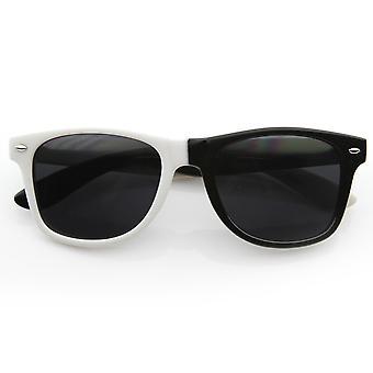 Mitad y mitad Color cuerno de montura gafas de sol de Party Rock LMFAO Bud baloncesto comercial