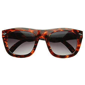 New Modern Thick Curved Bold Frame Indie Emo Fashion Horn Rimmed Sunglasses