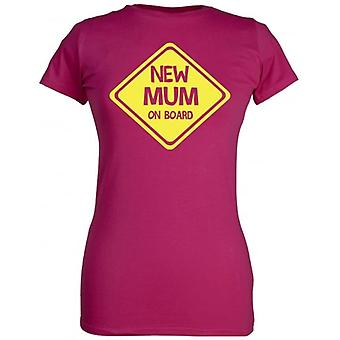 Spoilt Rotten New Mum On Board Women's T-Shirt Purple (12-14)