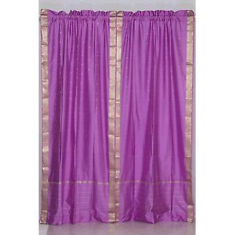 Lavendel Gardinenstangen Pocket schiere Sari / drapieren / Panel - paar