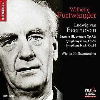 Beethoven / Furtwangler, Wilhelm - Beethoven: symfonier Nos.7 & 8 & Leonore Overture [CD] USA import