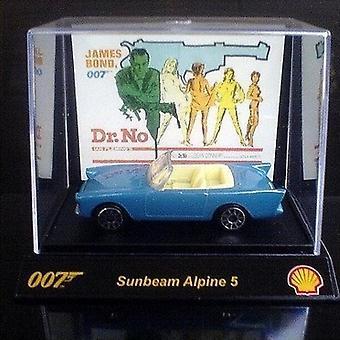 Shell James Bond 007 samlerobjekt 1:64th skala bil fra Shell Sunbeam Alpine 5