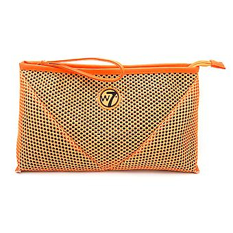 W7 Orange Mesh Large Cosmetic Toiletry Make Up Bag