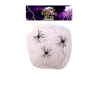 Spooky Spiders Web Decoration with 3 Spiders Halloween Party Decoration 20G