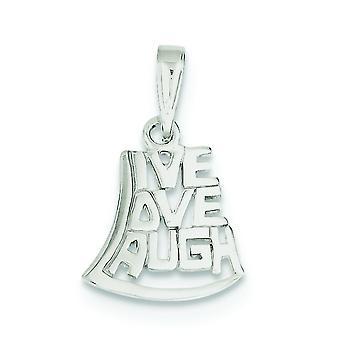 Sterling sølv Solid polert bor elsker latter anheng -.8 gram