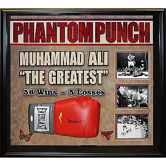 Muhammad Ali Signed Boxing Glove Framed Collage