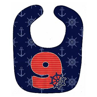 Carolines Treasures  BB8880BIB Nautical Month 9 Baby Bib
