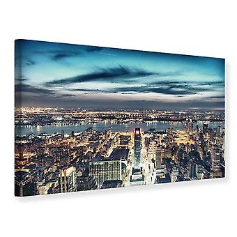 Canvas Print Skyline Manhattan City Lights