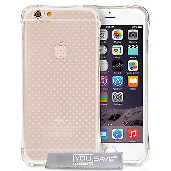 Yousave Accessories Iphone 6 And 6s Air Cushion Gel Case - Clear Case