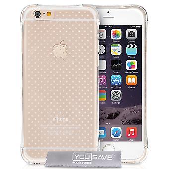 Yousave Zubehör Iphone 6 und 6 s Luft Kissen Gel Case - Fall klar
