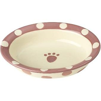 PetRageous Designs Polka Paws Bowl - Holds 1 Cup-Pink 10100