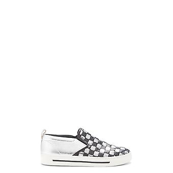 Marc Jacobs women's M9000710ARGENTO silver/black leather slip on sneakers
