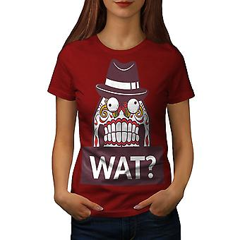 Skull What Funny Women RedT-shirt | Wellcoda