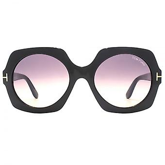 Tom Ford Sofia Sunglasses In Shiny Black