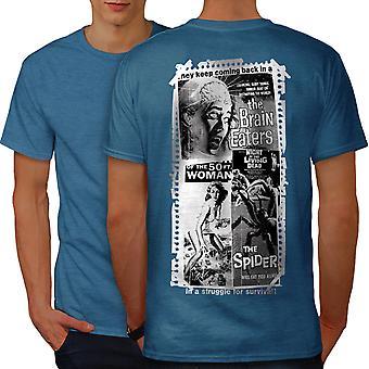 Vintage Horror Film Men Royal BlueT-shirt Back | Wellcoda