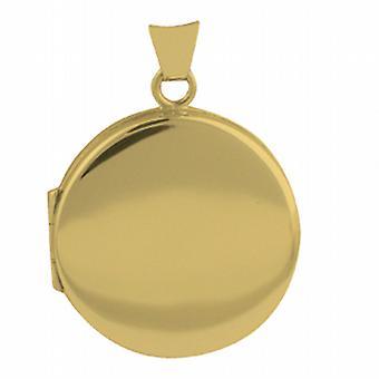 18-karatowe złoto 23mm okrągłe płaskie zwykły medalion