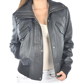 Womens Short Cut Starlet Bomber Leather Jacket
