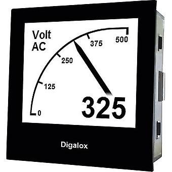 TDE Instruments Digalox DPM72-AV Graphical DIN-panelmeter for Voltage and Ampere TDE Instruments