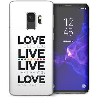 Samsung Galaxy S9 Bob Marley Love Quote TPU Gel Case – White