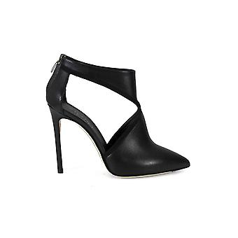 GREY MER 300.100 OPEN BLACK SUEDE ANKLE BOOT