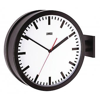 Balance wall clock 38 cm Analog Black/White