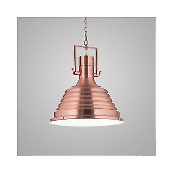 Ideal Lux Copper Industrial Fisherman 48cm Dome Pendant Light