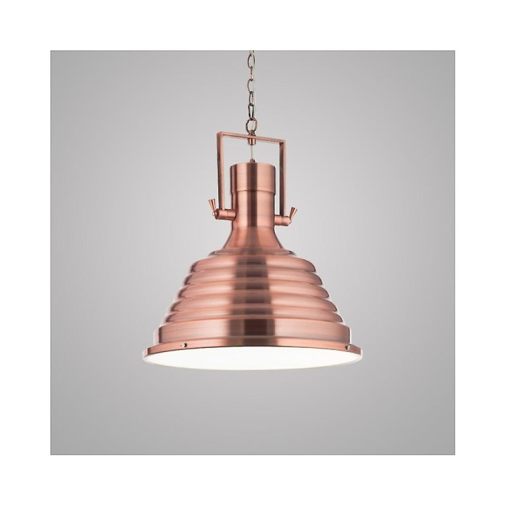 Ideal Lux Copper Industrial Fisherhomme 48cm Dome pendentif lumière