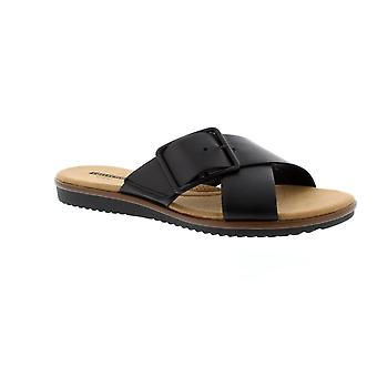 Clarks Kele Heather - Black Leather Womens Sandals