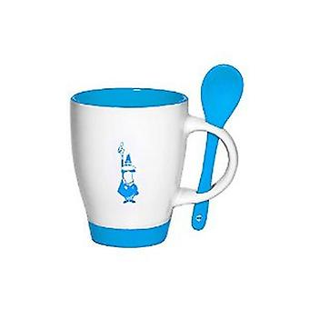 Bialetti - Mug and Spoon Set - Porcelain - White with Motif - Various Colours