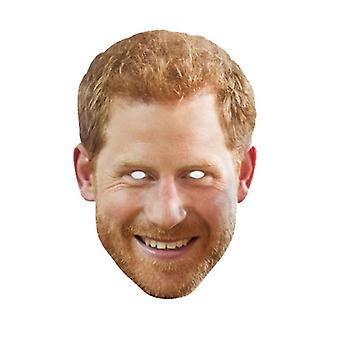 Prince Harry with Beard Single Royal Card Party Face Mask