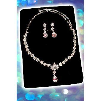 Corone e gioielli Set collana e orecchini di diamanti