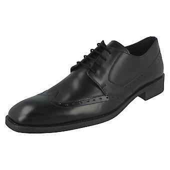 Mens Maverick Low Heel Lace Up Brogue Shoes A2121