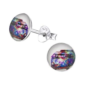 Hippy Van - 925 Sterling Silver Colourful Ear Studs