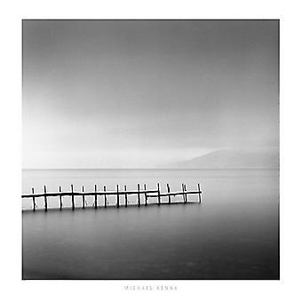 Michael Kenna manhã nevoenta Shikotsu Lake Hokkaido Poster imprimir por Michael Kenna (27 x 27)