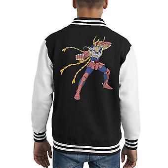 Saint Seiya Phoenix Fight Stance Kid's Varsity Jacket