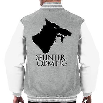 Ninja Turtles Splinter is Coming Game Of Thrones TMNT Men's Varsity Jacket