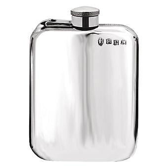 Plain Pewter Purse Flask with Captive Top - 6oz