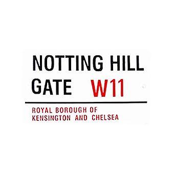 Notting Hill Gate große Emaille Stahl Zeichen