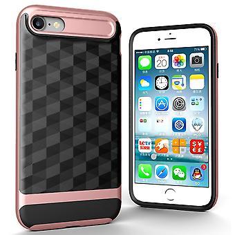 Hülle für Apple iPhone 7 Backcover Case Handy Schutzhülle - Cover 3D Prisma Design Rose Gold