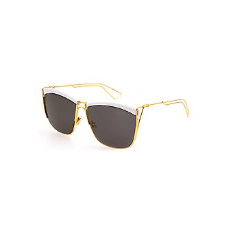 Dior Ladies So Electric Sunglasses in White and Yellow Gold
