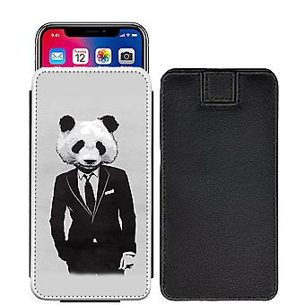 Panda Custom Designed Printed Pull Tab Pouch Phone Case Cover for Xiaomi Redmi Note 5 (China) [S] - Panda07_web